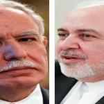 イランのモハンマド・ジャヴァード・ザリーフ外相(右)、パレスチナのリヤド・アル・マリキ外相と電話会談し、支持を表明(2020年8月16日、IRAN通信)