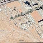 Google-Earthからサウジの核関連施設の全景(「テヘラン・タイムズ」電子版から)