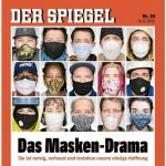 独週刊誌シュピーゲルの最新号の表紙「マスクドラマ」