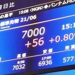 大阪取引所の金先物相場が7000円を突破