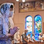 カトリック教会浦上天主堂で追悼の早朝ミサ