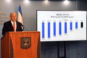 第2のロックダウン実施を発表するイスラエルのネタニヤフ首相