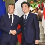 2019年8月26日、首相官邸でマクロン仏大統領と会談した安倍晋三首相