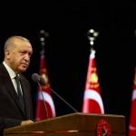東地中海の天然ガス田の権限を主張するトルコのエルドアン大統領(エルドアン大統領の公式ツイッターから)