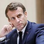 マクロン仏大統領 6月30日、モーリタニア・ヌアクショット(EPA時事)