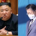 (左)北朝鮮の金正恩朝鮮労働党委員長=4月11日、ソウル(AFP時事)、(右)25日、ソウル南東の利川で、軍の式典に臨む韓国の文在寅大統領(EPA時事)