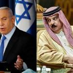イスラエルのネタニヤフ首相(左)とバーレーンのハマド国王(AFP時事)