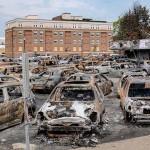 米ウィスコンシン州ケノーシャで先月起きた暴動で