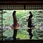 緑が映える「庭鏡」、「旧邸御室」を公開