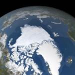 北極海の海氷面積が観測史上2番目に小さい