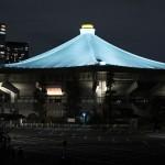 東京五輪へ道しるべ、日本武道館をライトアップ