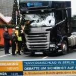 ベルリンのクリスマス市場に突入した大型トラック