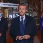 テロ現場を視察したマクロン大統領(2020年10月16日、フランス大統領府(エリゼ宮殿)公式サイトから)