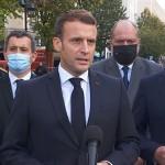 テロの現場ニースを訊ね、イスラム過激派テロとの戦いを決意するマクロン大統領(2020年10月29日、フランス大統領府公式サイトから)