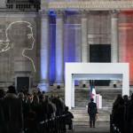 サミュエル・パティさんの追悼式典(エリゼ宮殿公式サイトから、2020年10月21日)