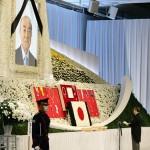 故中曽根康弘元首相に最後の別れを告げる