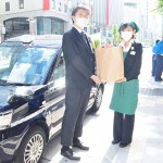 松屋銀座がタクシーで食品の即日配送を開始