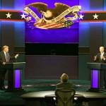 9月29日、初の直接対決の大統領選テレビ討論会は激しい口論となった