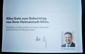 ルドヴィク市長から届いた誕生日カード