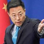 中国の代表的攻撃型外交官、趙立堅報道官(RFIより)