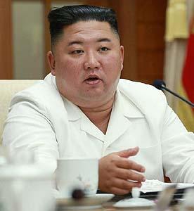 金正恩委員長(朝鮮通信・時事)