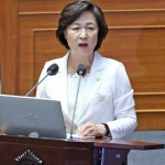 韓国の秋美愛法務部長官7月22日、ソ ウ ル(EPA時事)