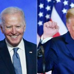バイデン前米副大統領(左)とトランプ大統領(AFP時事)