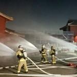 首里城火災から1年、那覇市消防局が早朝訓練