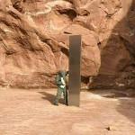 高さ12㌳、米ユタ州の砂漠地帯に正体不明の柱