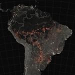 2019年に入って火災が起きた地点を示す画像(ウィキぺディアから、NASA撮影)