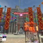 15祝祭のマルシェは日程によって開始地点が違っており、Day1は市街地から城へと入った広場からスタート