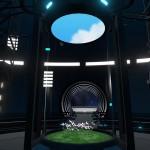 01軌道エレベーターの中継ステーションであるオービタル。各ワールドで異なる天然物の花が展示してある