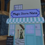 07アルミナナさんのブース。ファンタジックな魔法使いのアバターが見られる