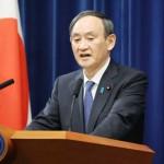 1都3県に緊急事態宣言で記者会見する菅義偉首相