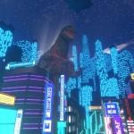 43夜の日本の名物とサイバーな街並み、そして大怪獣ゴジラが進撃する