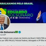 トランプ氏のプロフィール画像に差し替えられたエドゥアルド下院議員のツイッター(同議員のツイッターより)
