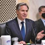 19日、米上院外交委員会で行われた国務長官指名公聴会で証言するアントニー・ブリンケン氏(UPI)