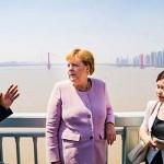 2019年9月、中国武漢市を視察中のメルケル独首相(独連邦首相府公式サイトから)