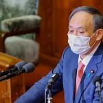 衆院本会議で立憲民主党の枝野幸男代表の質問に答える菅義偉首相=20日午後、国会内