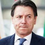 イタリアのコンテ首相=2020年2月、ブリュッセル(AFP時事)