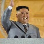 北朝鮮・朝鮮労働党創建75周年の祝賀会で演壇に立つ金正恩党委員長(朝鮮中央通信公式サイトから)