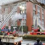 歴史的建造物の横浜第2合同庁舎で火災