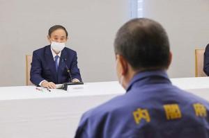 福島県沖の地震対策で関係閣僚会議を開く菅首相(2021年2月14日、首相官邸公式サイトから)