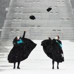韓国ソウルの梨花女子大、コロナ禍の卒業写真