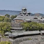 熊本市役所からの眺め。熊本城全体の復旧完了まではあと17~18年かかる(2021年2月)