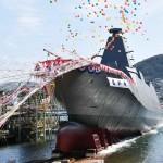 海自の新型護衛艦2隻目「もがみ」が進水