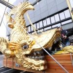 名古屋城のシンボル「金シャチ」が地上に降臨