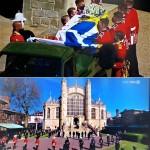 フィリップ殿下の葬儀風景(2021年4月17日、オーストリア国営放送の中継から)