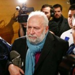 公判の延期で裁判所から出るプレナ被告(2020年1月13日、バチカンニュースから)