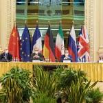 9日、ウィーンで開かれた英仏独中露、イランと欧州連合(EU)による次官級協議(EU提供・時事)